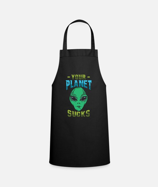 Extraterrestrial Aprons - planet - Apron black