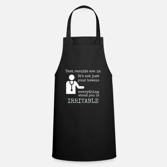 Fibromyalgia Aprons - Funny IBS - Everything About You Is Irritable - Apron black
