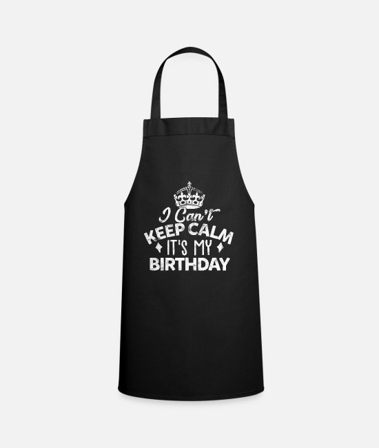 Birthday Present Aprons - birthday present - Apron black