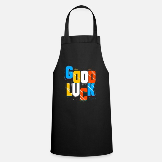Request Aprons - GOOD LUCK. - Apron black