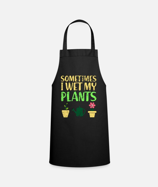 Nature Aprons - plants - Apron black