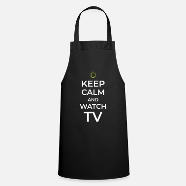 Tv TV TV TV watching TV - Apron