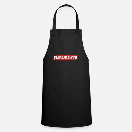Gift Idea Aprons - Novice driving practice driver's license gift - Apron black