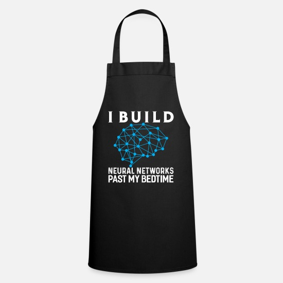 Brain Aprons - Machine Learning AI Neural Network - Apron black