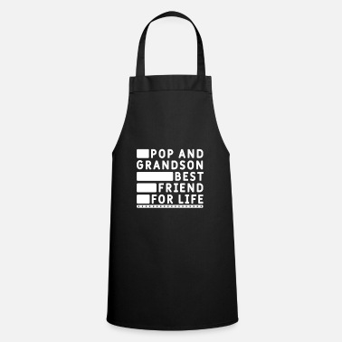 Xmas Mens Pop And Grandson Best Friends For Life Cool - Apron