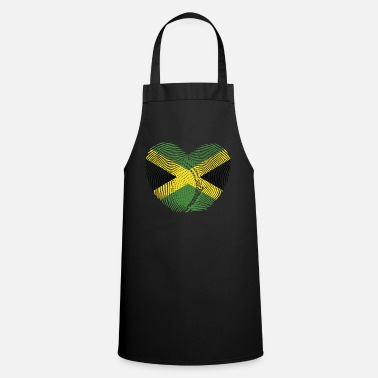 Jamaican Creole Jamaica Heart Group Tee Shirts - Apron