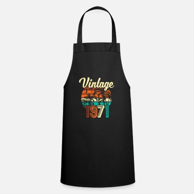 50s 50th birthday men 50 Vintage since January 1970 - Apron