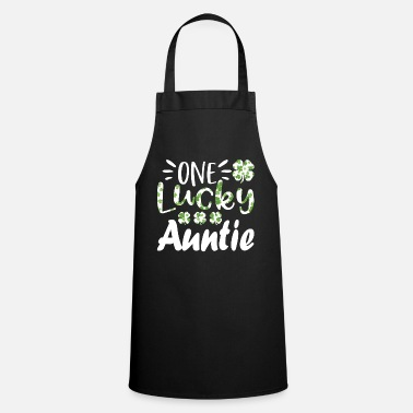 Day Of The Dead One Lucky Auntie Funny St Patrick's Day T Shirt - Schürze