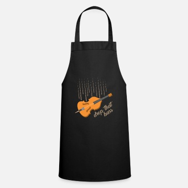 Bass Double Bass Stringed Instrument Gift Idea - Cooking Apron