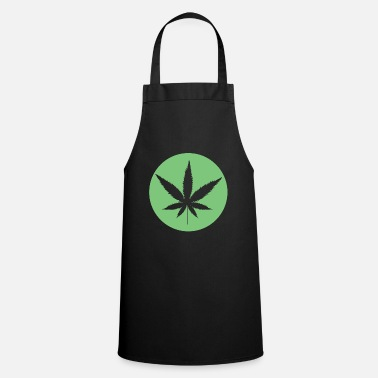 Leaf Cannabis Leaf Cannabis Leaf Symbool Weed Marijuana - Tablier de cuisine