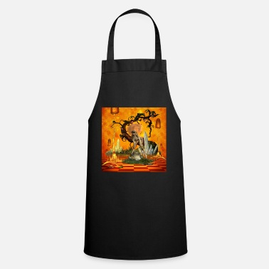 Mouse Cute fairy with snail - Cooking Apron