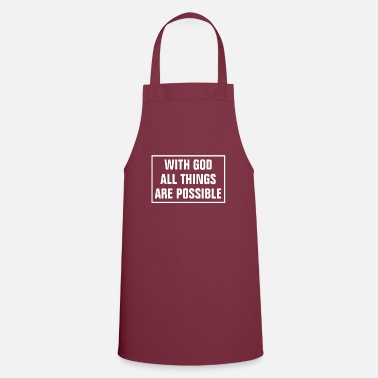 Cross In God All Things Are Possible - Christian - Apron