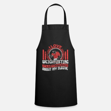 Person Weightlifting weight training fitness gift - Apron