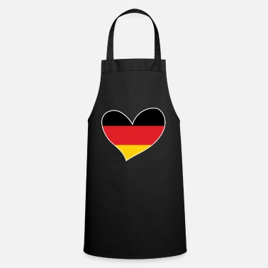 Flag Of Germany Germany, German Flag Heart, I Love Germany - Apron