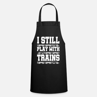 Training Train trains train steam locomotive - Cooking Apron
