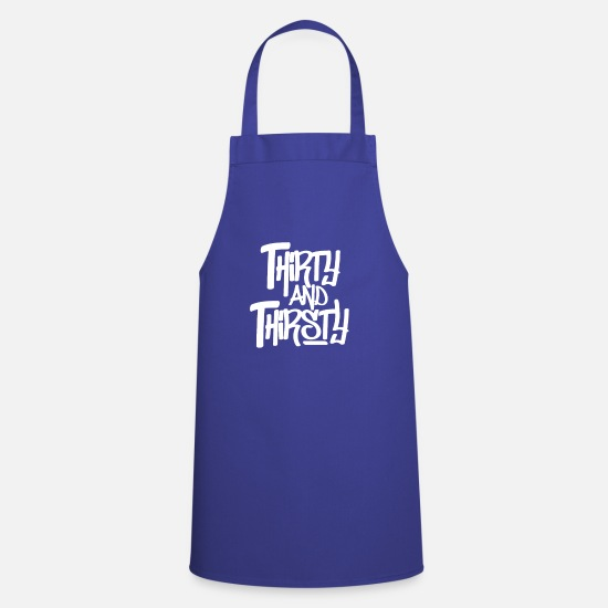Birthday Aprons - 30 years - Apron royal blue