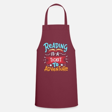 Reading Read reading - Apron