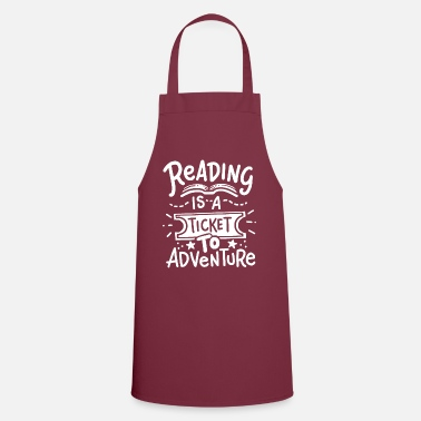 Reading Read Read Read - Apron