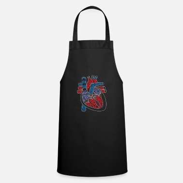 Production Year Parts of heart product Anatomical heart Gift for - Apron