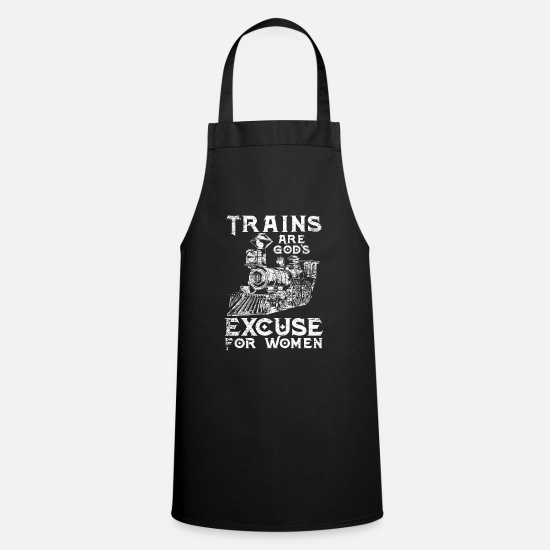 Train Aprons - Train woman engine driver - Apron black