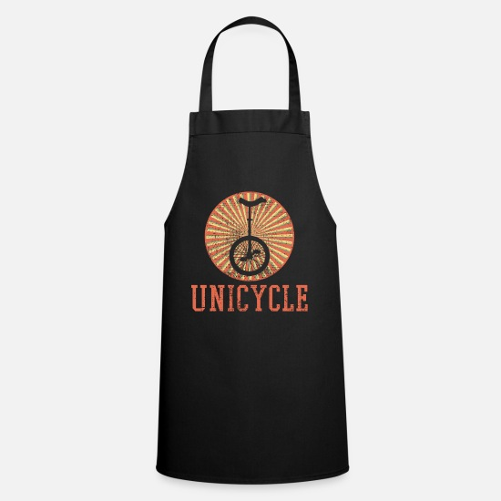 Performer Aprons - Unicycle Unicycle Unicycle Unicycle Unicycle - Apron black