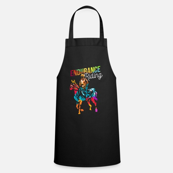 Gift Idea Aprons - Endurance riding equestrian sport - Apron black