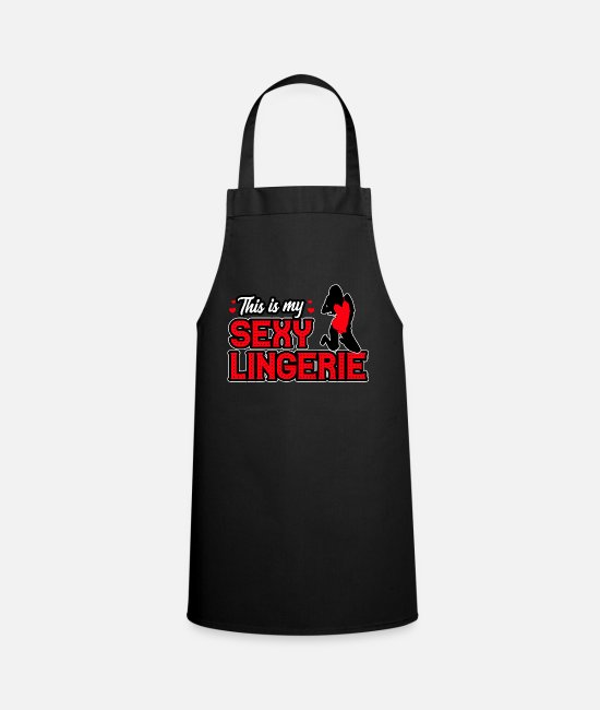 Attractive Aprons - This is my sexy lingerie - Apron black