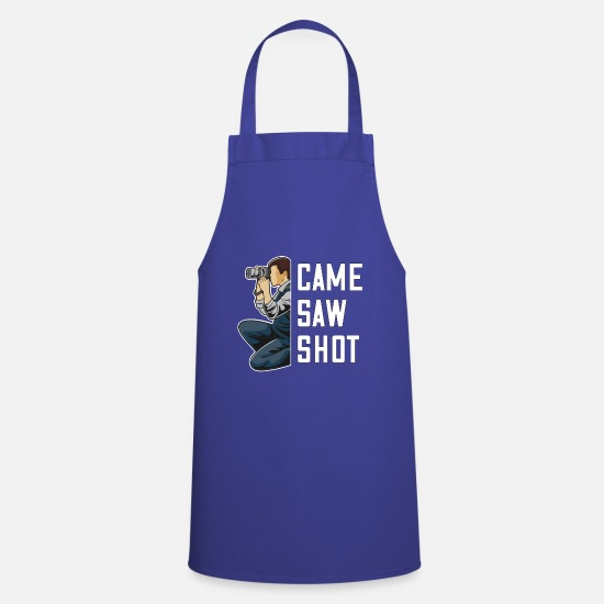 Gift Idea Aprons - Photography SLR camera photo gift idea - Apron royal blue