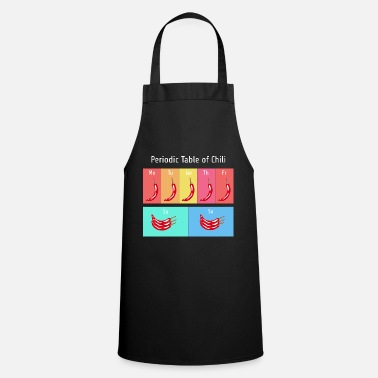 Periodic Table Periodic Table of Chili - Periodic Table of the Chili - Cooking Apron