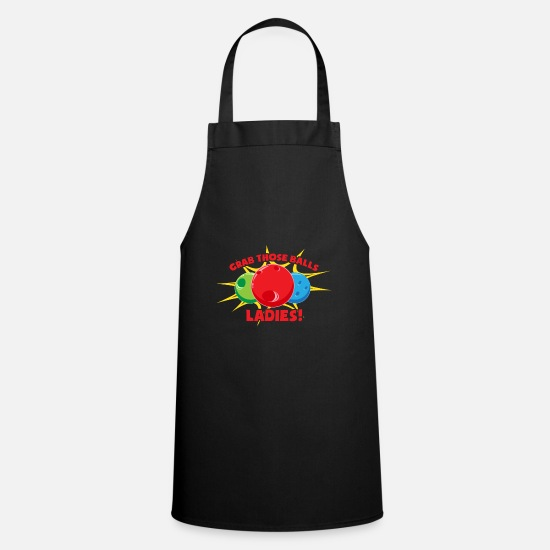 Group Aprons - Funny bowling shirt! - Apron black