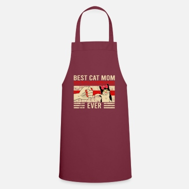 Vintage Vintage Best Cat Mom Ever Bump Friend Design - Schürze