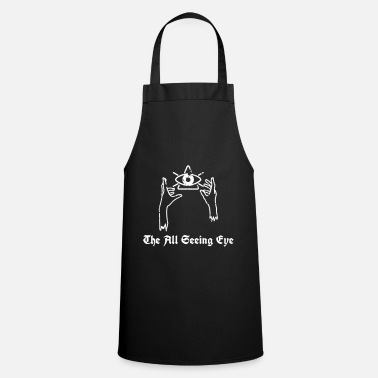 Freemasons illuminati all seeing eye nwo - Cooking Apron
