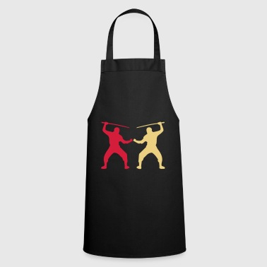 fight sword enemy enemy - Cooking Apron