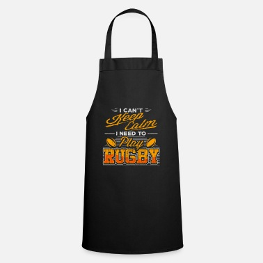 Two rotating rugby balls - rugby - Apron
