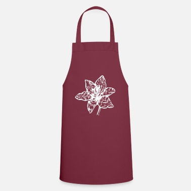 Blossom Lily Flower silhouette icon blossom lily flowers - Apron