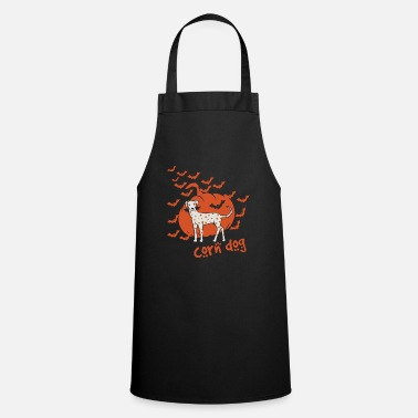 Corn Dog Grain Dog Corn Dog Halloween Design - Apron