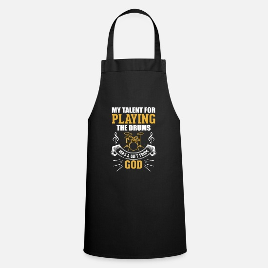Drum Aprons - Christian Jesus Drummer Quote Saying Gift - Apron black