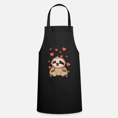 Panda Sloth Valentine's Day TShirt for Kids Girls Women - Cooking Apron