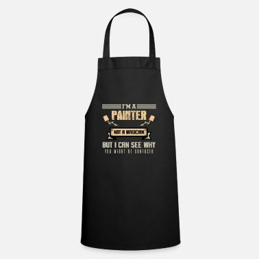 Quotes Painter master painter paint roller brush gift - Cooking Apron