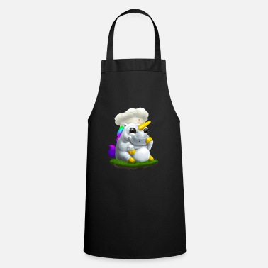Alasdair unicorn chef hat - Apron