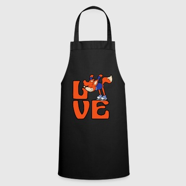 Fox figure skating ice skates winter sports ice - Cooking Apron