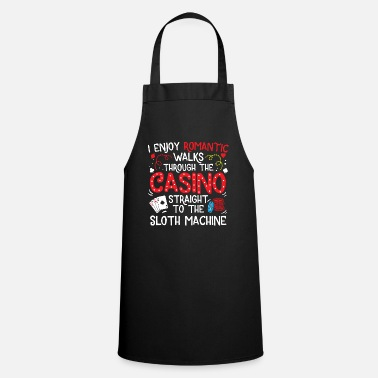 Vegas Sloth Machine Casino Walks Gambling Gambler Gift - Apron