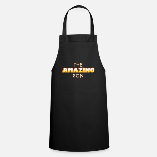 Gift Idea Aprons - son - Apron black