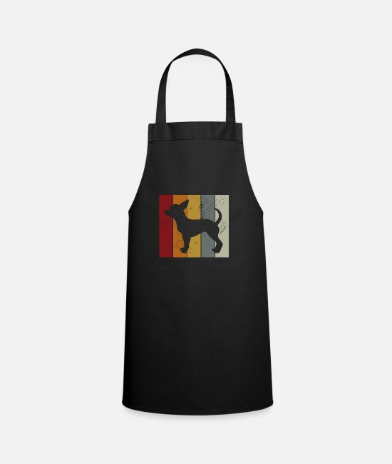 Sweet Dog Aprons - Chihuahua Retro Dog Dog Lover Puppy Gift - Apron black