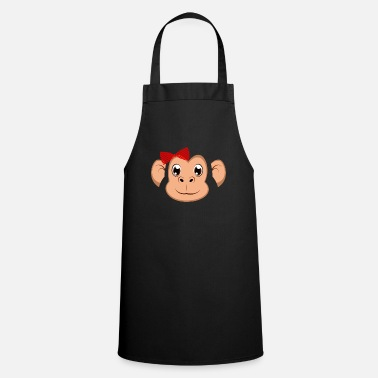 Easy Floral Monkey Animal Halloween Costume Gift - Apron
