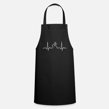 Heart Rate bunny rabbit heartbeat ECG cony hare love - Cooking Apron