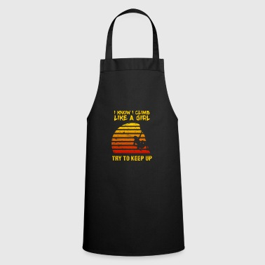 Sport Climb Like A Girl Women Climbing Bouldering Vintage - Cooking Apron