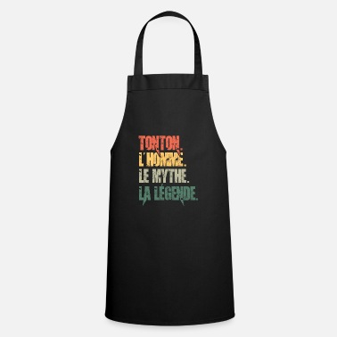 t-shirt uncle the legend, gift idea - Apron