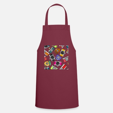 Selfie Illustration pattern photography camera - Apron