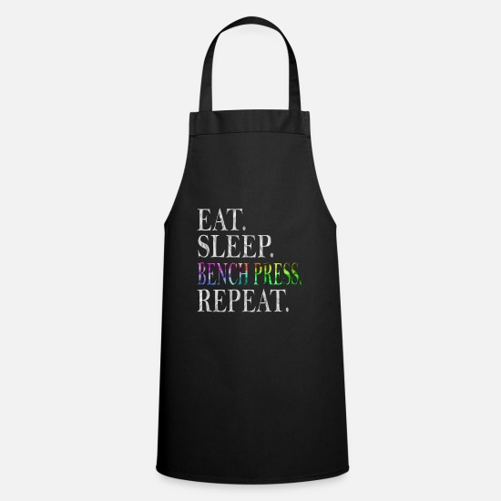 Body Builder Aprons - bench Press - Apron black